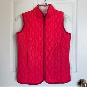 Land's End quilted pink vest